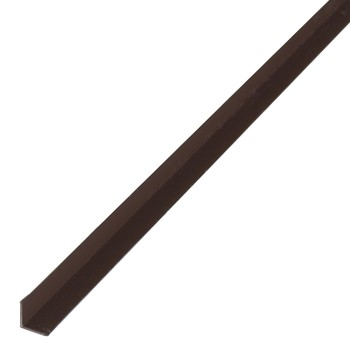 Уголок ПВХ 15*15*2700 коричневый 019