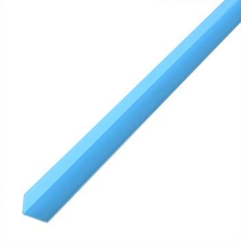 Уголок ПВХ 20*20*2700 голубой 023