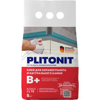 Клей для плитки Плитонит В+, 5 кг