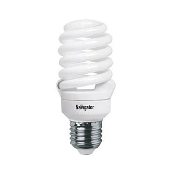 Лампа энергосберегающая 20Вт Е27 холодный свет Navigator