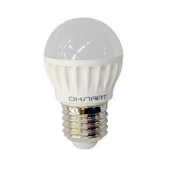 Лампа светодиод. Шар 6-4K-E27 ОНЛАЙТ