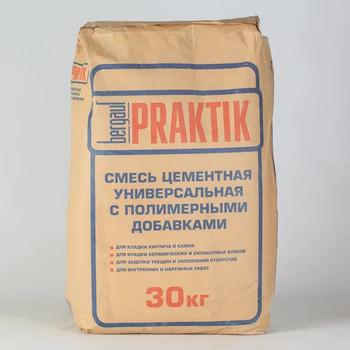 Кладочная цементная смесь Bergauf Praktik М100 морозостойкая, 30 кг