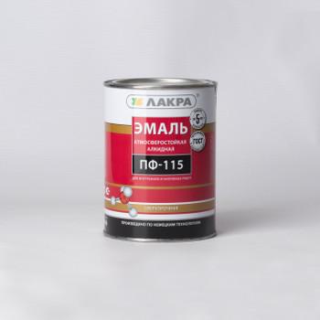 Эмаль ПФ-115 красная гл. (1кг) Лакра