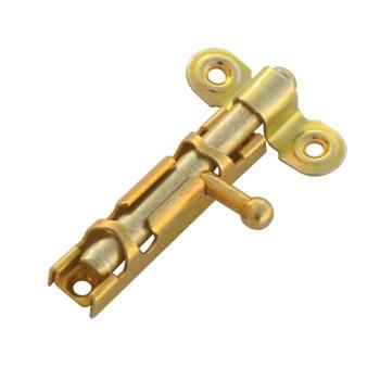 Шпингалет ЗТ1 Ц.Д. желтый цинк, L= 60мм
