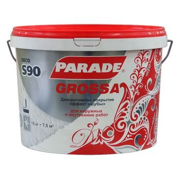 Декоративное покрытие Parade Deco S90 грубозернистая шуба, 15 кг
