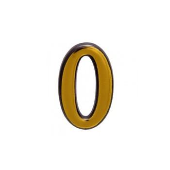 Цифра дверная АЛЛЮР пластик 0 золото