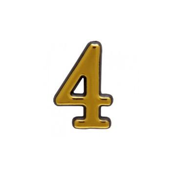 Цифра дверная АЛЛЮР пластик 4 золото