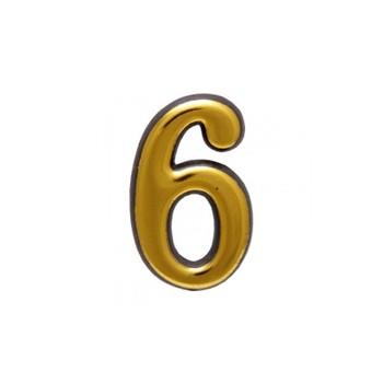 Цифра дверная АЛЛЮР пластик 6 золото