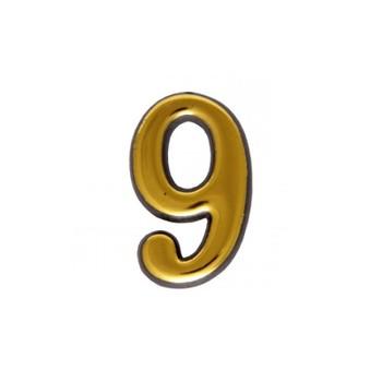 Цифра дверная АЛЛЮР пластик 9 золото