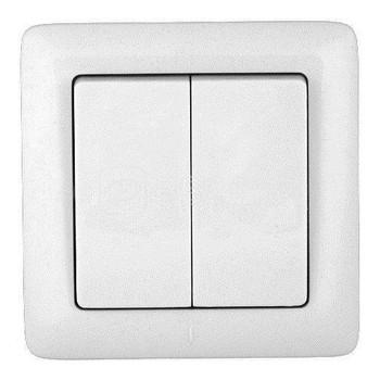 Выключатель 2-кл. СП Хит 6А бел. SchE ВС56-234-Б VS56-234-B (ВС56-234-б)