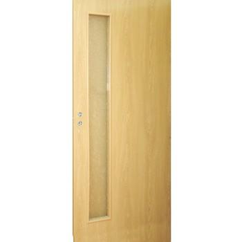 Дверное полотно Olovi L3 3D М10х21 ламинат Дуб (под остекление)