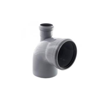 Отвод канализационный с фронтальным выходом вверх 110х50х90гр РТП
