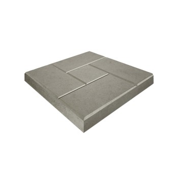 Плитка тротуарная Кирпич ЭКО-плит 300*300*30, серый