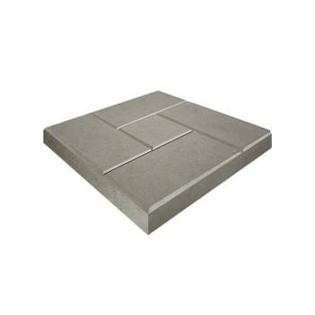Плитка тротуарная Кирпичик, 300х300х30мм серый