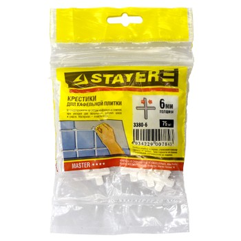 Крестики для плитки Stayer 6 мм (75 штук)