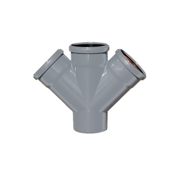 Крестовина канализационнаяРосТурПласт 110х110х110 45°