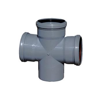 Крестовина канализационная РосТурПласт 110х110х110 87,5°