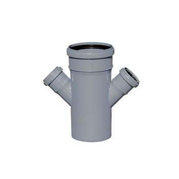 Крестовина канализационная РосТурПласт 110х50х50 45°