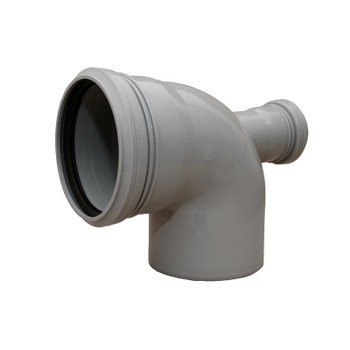 Отвод канализационный с фронтальным выходом тыл. 110х50х90гр РТП
