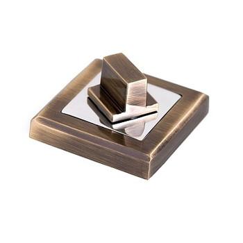 Накладка квадратная под фиксатор PALLADIUM CS BK античная бронза/хром