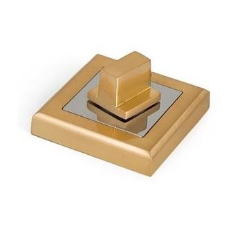 Накладка квадратная под фиксатор PALLADIUM CS BK матовое золото/хром