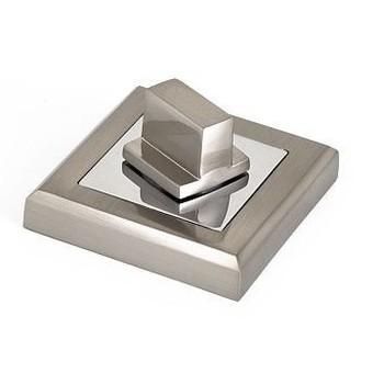 Накладка квадратная под фиксатор PALLADIUM CS BK матовый никель/хром