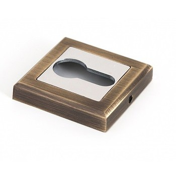 Накладка квадратная под цилиндр PALLADIUM CS ET античная бронза/хром