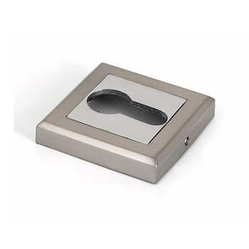 Накладка квадратная под цилиндр PALLADIUM CS ET матовый никель/хром