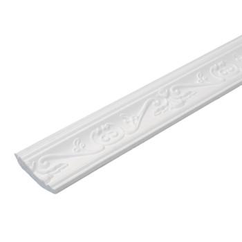 Плинтус потолочный С102/80, 70х35мм, 2м, Солид (узор)