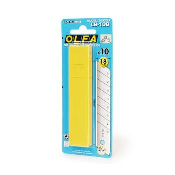 Лезвия для ножей OLFA 18 мм 10 штук в упаковке