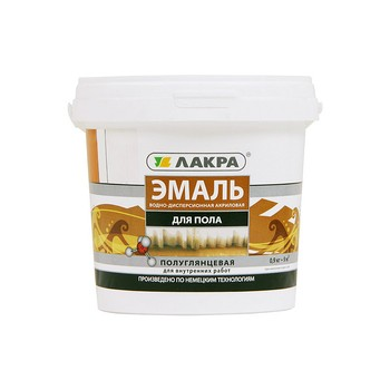 Эмаль для пола акрил. золотисто-коричневая, 0,9кг, Лакра