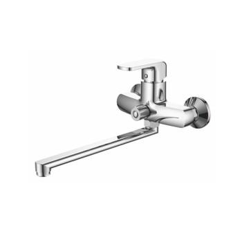 Смеситель д/ванны ACCOONA A7162 (Дивертор в корпусе, длин.излив) силумин.хром.