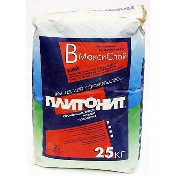 Клей для плитки Плитонит В максислой, 25 кг