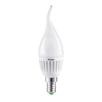 Лампа светодиодная свеча на ветру 7В E14 2,7K теплый свет Navigator