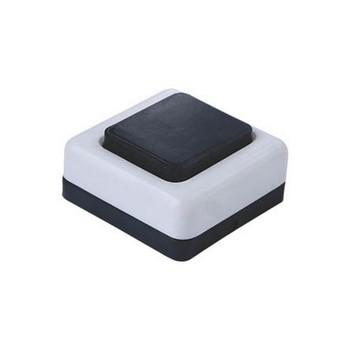 Кнопка звонка черная на белом Витебск
