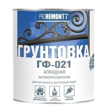 Грунт ГФ-021 Proremontt кр-коричневый 0,9 кг