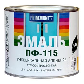 Эмаль ПФ-115 Proremontt Красный 1,9кг