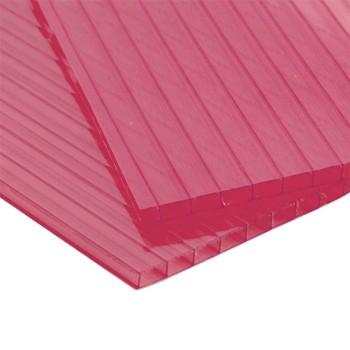 Сотовый поликарбонат, красный 4 мм 1520х3750мм