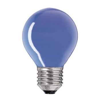 Лампа синяя Party Е27 15Вт шарик PHILIPS