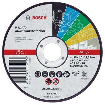 Отрезной круг Bosch Multiconstruct 125*1,0*22,2мм