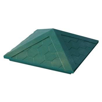 Колпак полимерпесчаный 385х385мм зеленый