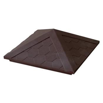 Колпак полимерпесчанный 385х385мм коричневый