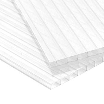 Сотовый поликарбонат Карбогласс Агро, прозрачный 4 мм 2,1х6 м, плот. 0,6 кг/м2