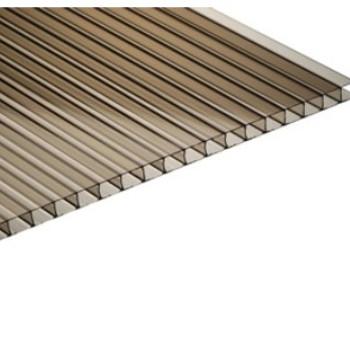Сотовый поликарбонат бронза коричневая 4мм 2,1х6м