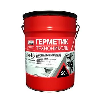 Герметик для стыков и швов бутил-каучуковый технониколь №45 (белый), 16кг