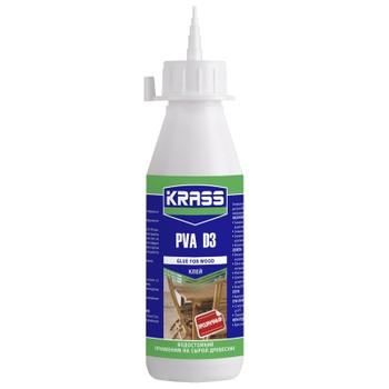 Клей ПВА Krass D3 водостойкий для древесины, 0,5 л