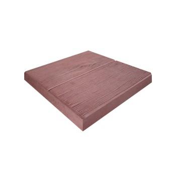 Плитка тротуарная Паркетная доска красная (300x300x30)