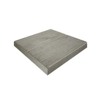 Плитка тротуарная Паркетная доска серая (300x300x30)