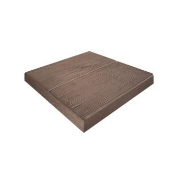 Плитка тротуарная Паркетная доска коричневый (300x300x30)