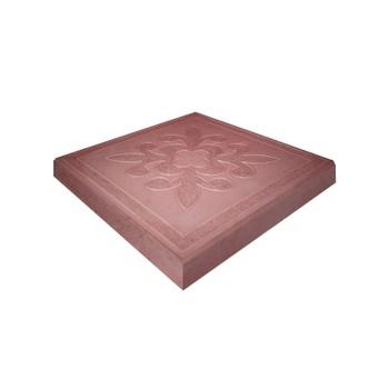Плитка тротуарная Краковская, 300x300x30мм красная